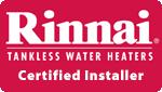 Rinnai Certified Logo